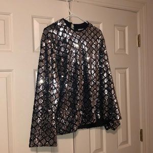 Sequin long sleeved top